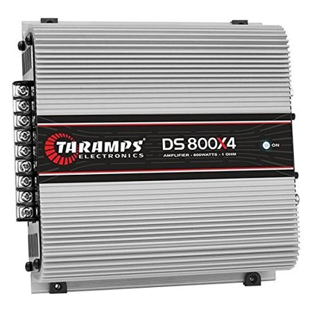 TARAMPS Four Channel High Power Car Stereo Audio Amplifier Stable To Two Ohms 8 Ohm Stereo Volume Control