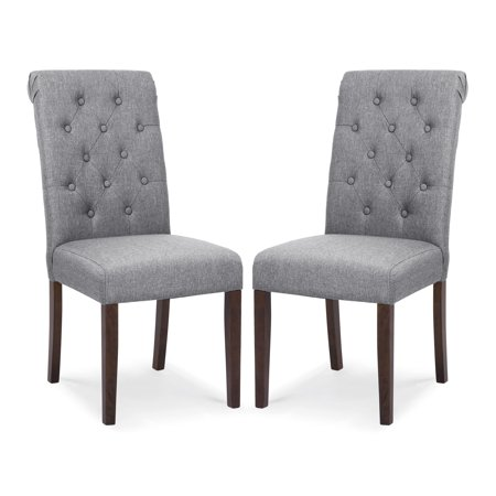 Poly and Bark Atlanta Dining Chair in Grey (Set of 2) ()