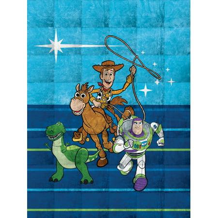 Toy Story Kids Weighted Blanket, Blue w/ Woody, Buzz, Rex & Bullseye 4.5 lb, 36