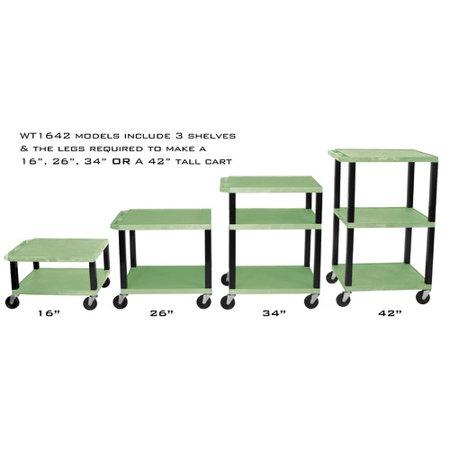 H. WILSON Adjustable Height Tuffy Multi-Purpose Cart Wilson Adjustable Height Presentation Stand