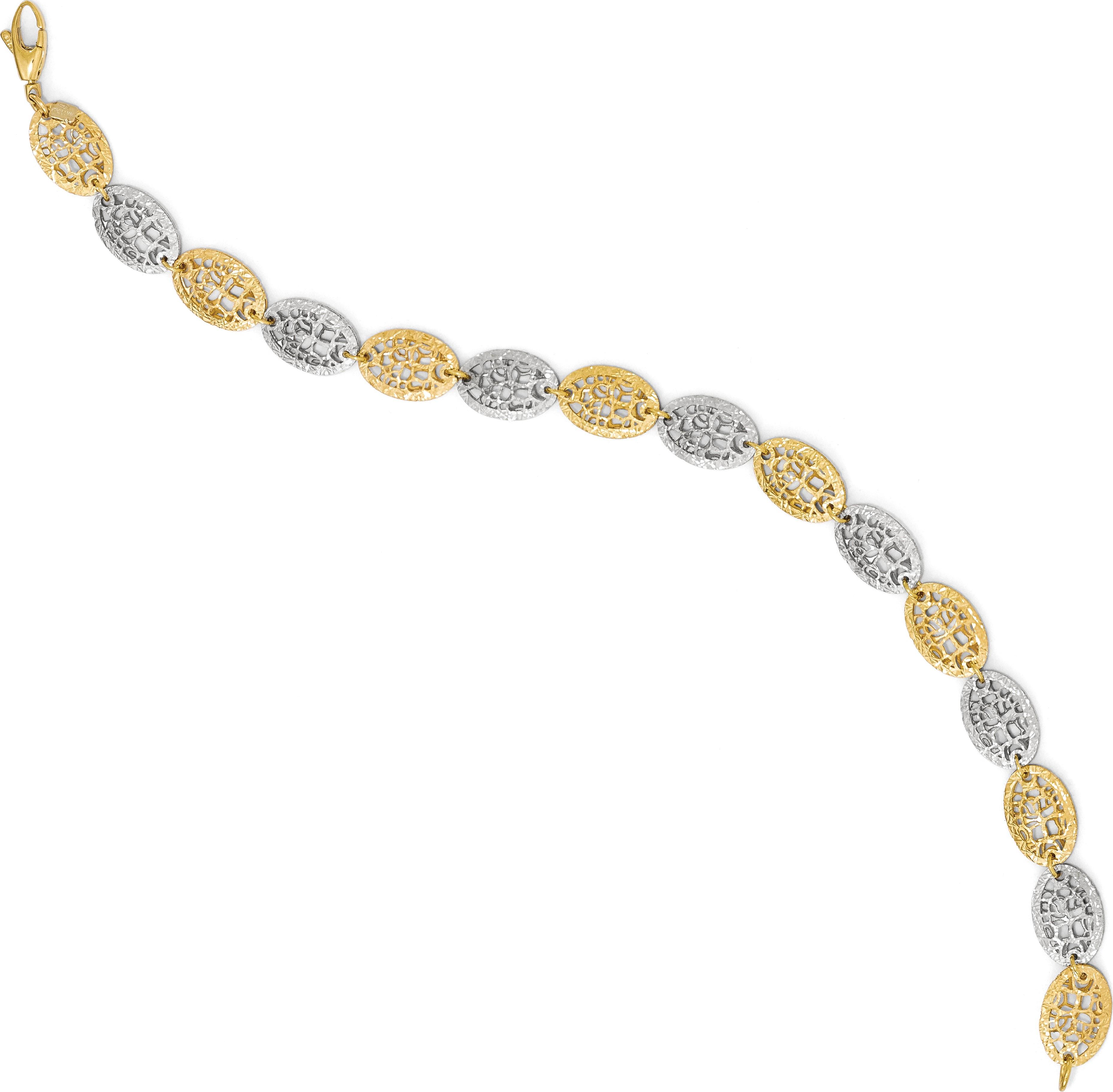 14k Two-tone Leslies Two-tone Fancy Bracelet - image 1 of 4