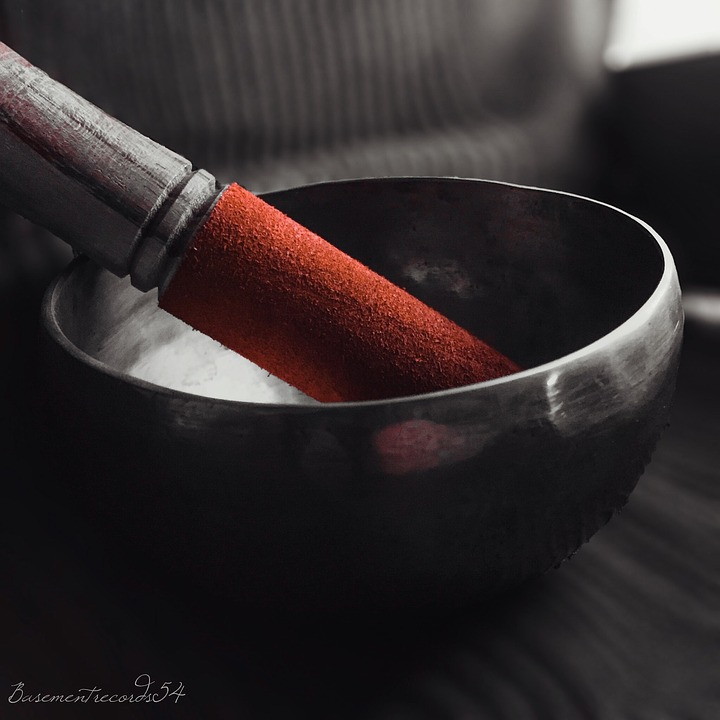 Peel-n-Stick Poster of Colored Shell Color Singing Bowl Red Poster 24x16 Adhesive Sticker Poster Print