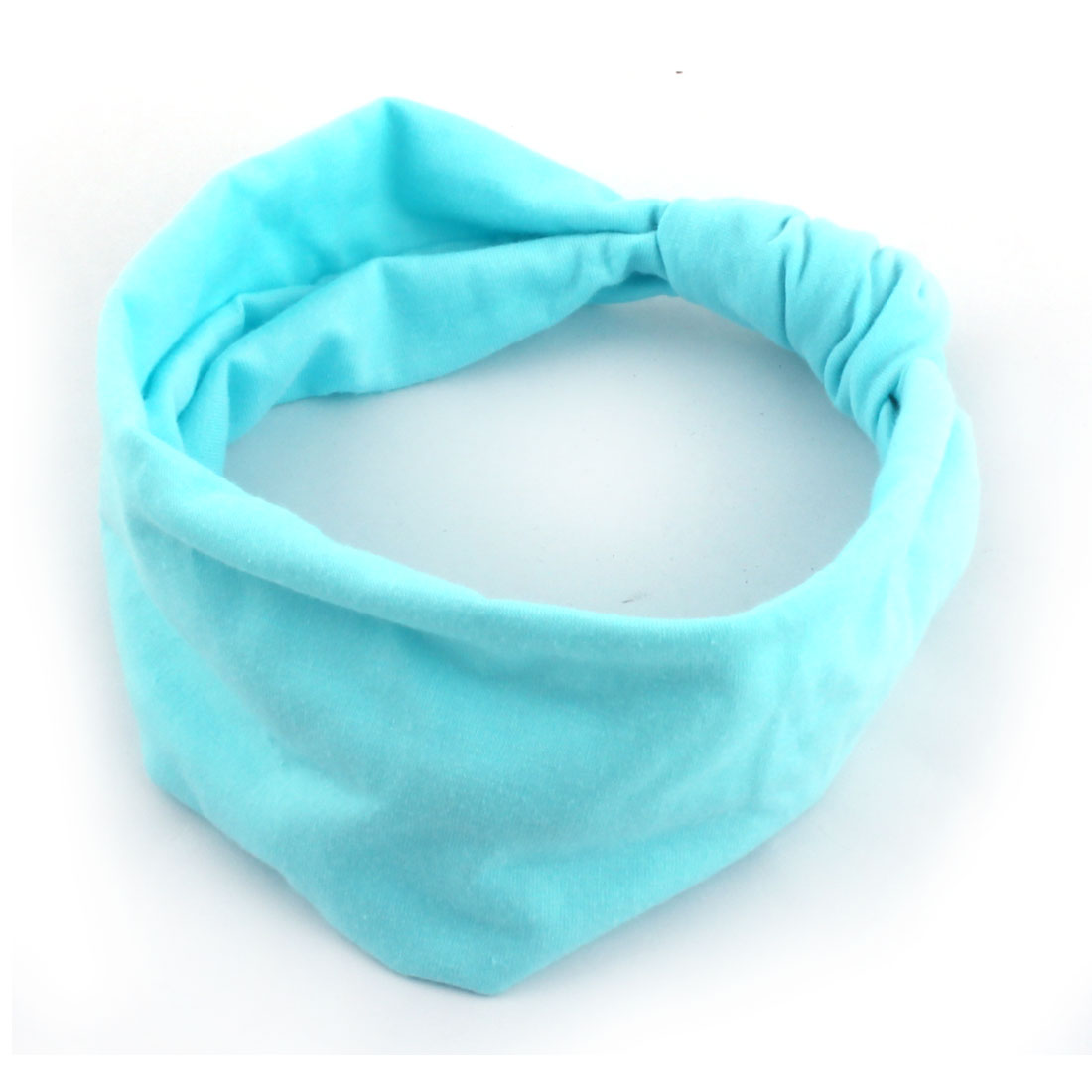 Girl Cotton Blends Stretch Knotted Turban Headband Head Wrap Hair Band