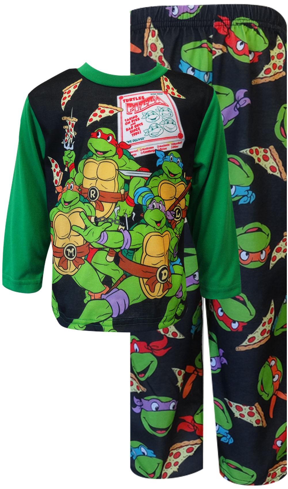 Turtles Sleepsuit 4 to 8  Years TMNT All in One Mutant Turtles Pyjamas Pjs