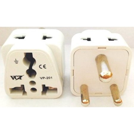 VCT Universal 2-outlet Plug Adapter for USA to India High Quality CE Certified (VP-201W) (Plug Adapter India)