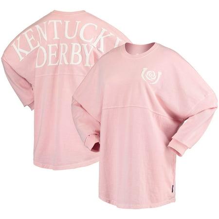 Derby Jersey - Kentucky Derby Fanatics Branded Women's Long Sleeve Spirit Jersey - Pink