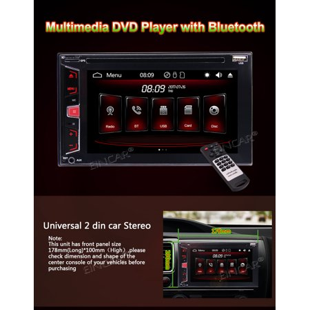 2018 Newest Wince System 6.2 inch Double Din In Dash Car DVD Player with USB/SD/AM FM RDS Radio/Bluetooth/Five Points Capacitive Touch Screen/3 types of UI optional/1080P video & Free Wireless Backu