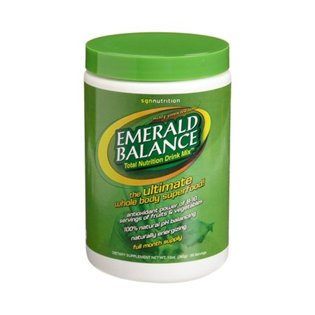 Sgn Nutrition Emerald Balance Drink Mix, 30 Day Canister - 10 (10 Day Green Smoothie Cleanse Day 3 Recipe)