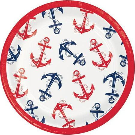 Nautical Anchor Dessert Plates, 8 ct - Nautical Dessert Ideas