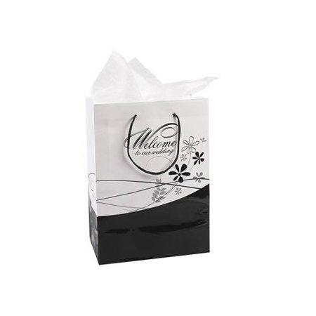 Fun Express Medium Welcome To Our Wedding Gift Bags Set 1 Dozen