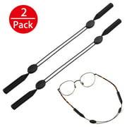 2-pack Adjustable Eyeglasses and Sunglasses Holder Strap Cord, Universal Fit Rope Eyewear Retainer