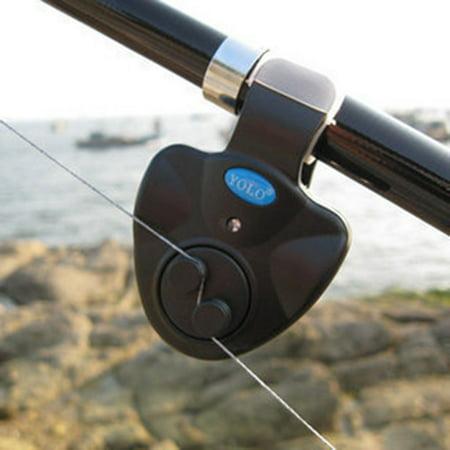 Best Sensitive Electronic Fishing Bite Alarm Indicator, Universal Fishing Alarm Electronic LED Light Fishing Bite Sound Alarm Alert Bell Clip On Fishing