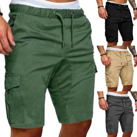 Stylish Men Cargo Work Shorts Elasticated Summer Casual Combat Pants