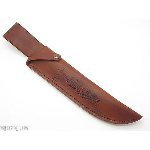 Usa M S A Co Marbles Trailmaker Leather Bowie Knife Sheath 10 Fixed Blade Walmart Com Walmart Com