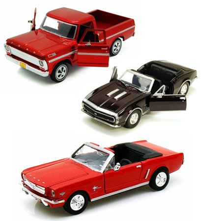Best of 1960s Muscle Cars Diecast - Set 44 - Set of Three 1/24 Scale Diecast Model