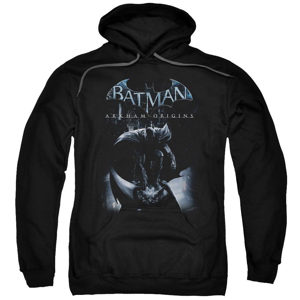 BATMAN ARKHAM ORIGINS/PERCHED CAT-ADULT PULL-OVER HOODIE-BLACK-XL