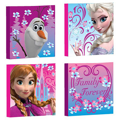 Disney Frozen Canvas Wall Art, 4-Pack