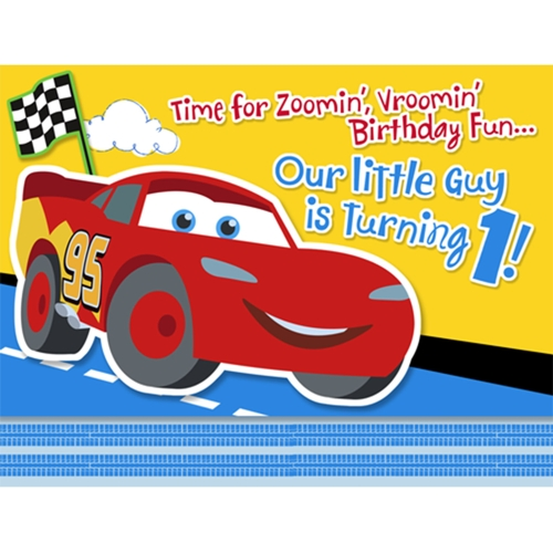 Disney 1st Birthday Cars Invitations Walmart Com