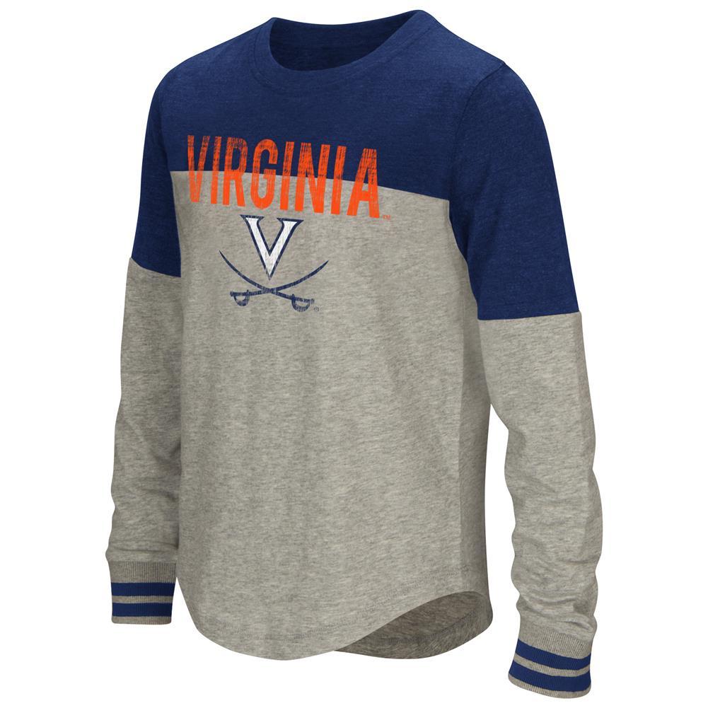 Youth Girls' Baton University of Virginia Cavaliers Long Sleeve Shirt