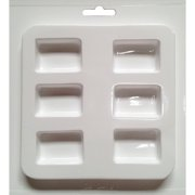 """Cool2Cast 1"""" x 1.5"""" Rectangles Mold, 6-Cavity"""