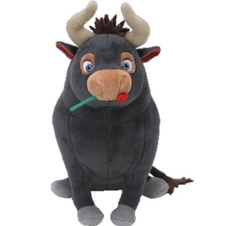 TY 6' Ferdinand The Bull Beanie Babies Plush Stuffed Animal With Ty Heart Tags (Pit Bull Stuffed Animal)