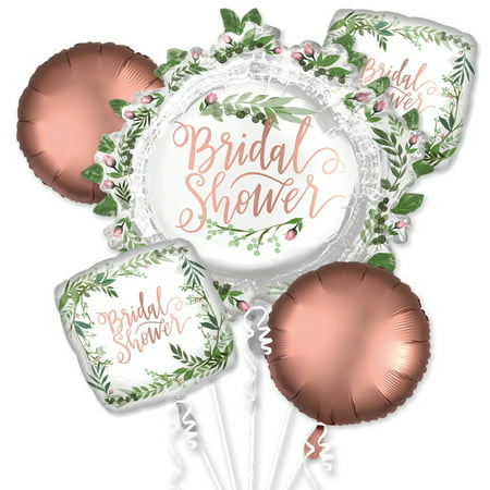 Bridal Shower Love and Leaves Balloon Bouquet - Balloons For Bridal Shower