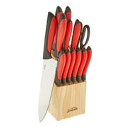 Sunbeam Durant 14 Pc. Knife Set, Red