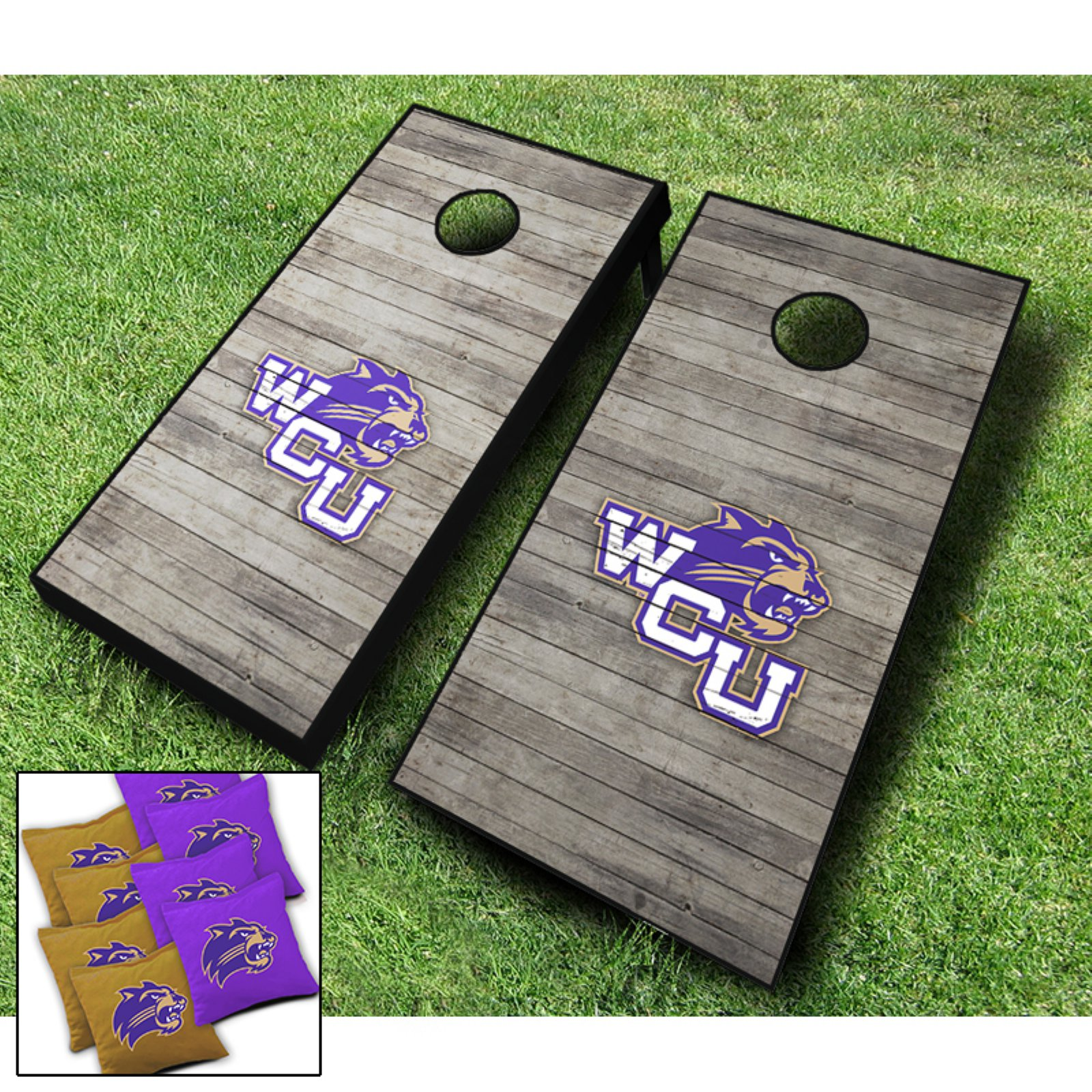AJJ Cornhole NCAA 10 Piece Distressed Cornhole Set by AJJ Cornhole