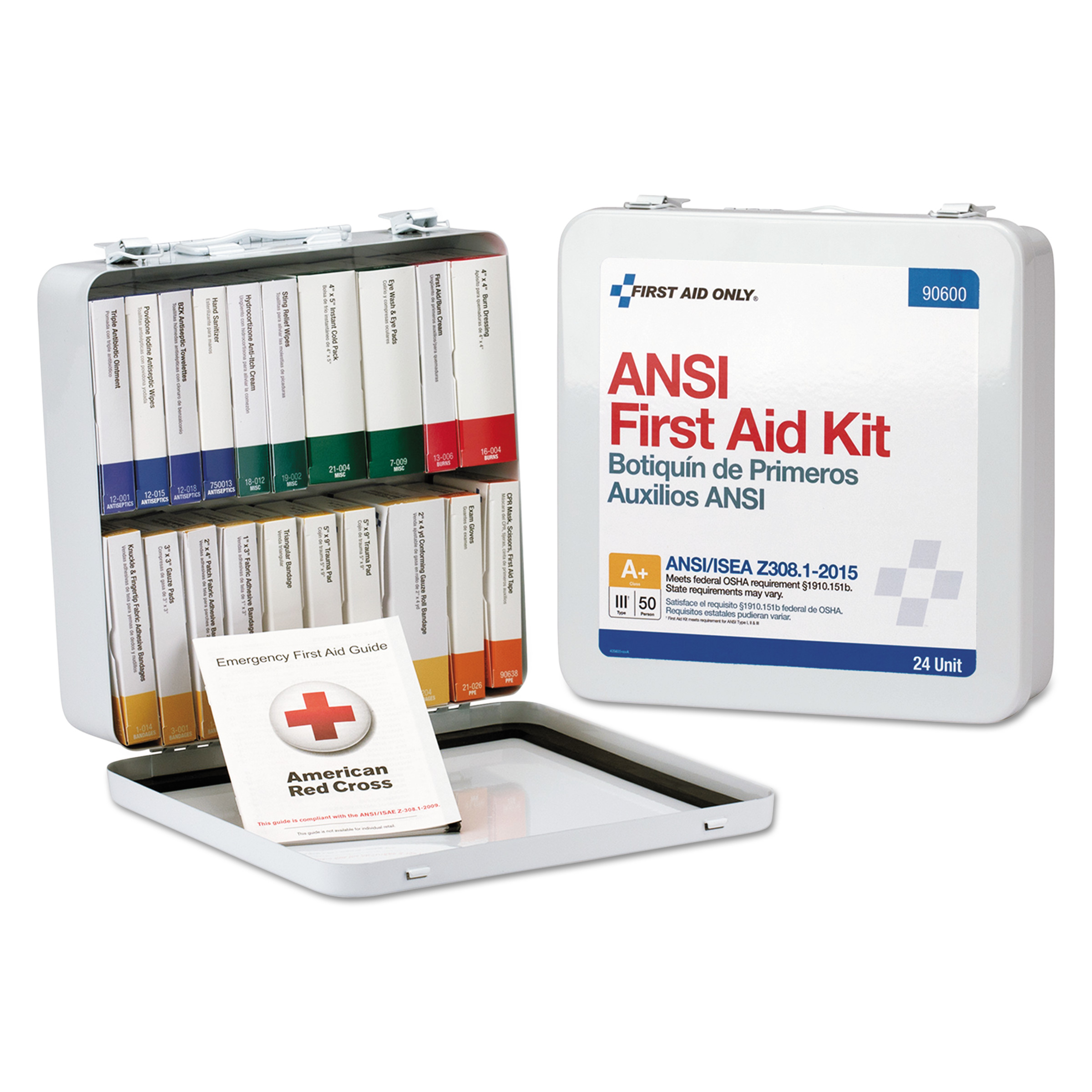 First Aid Only Unitized ANSI Class A Weatherproof First Aid Kit for 50 People, 24 Units