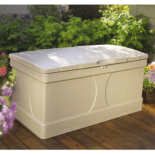 Suncast 99 Gallon Light Taupe Resin Deck Box DB9000