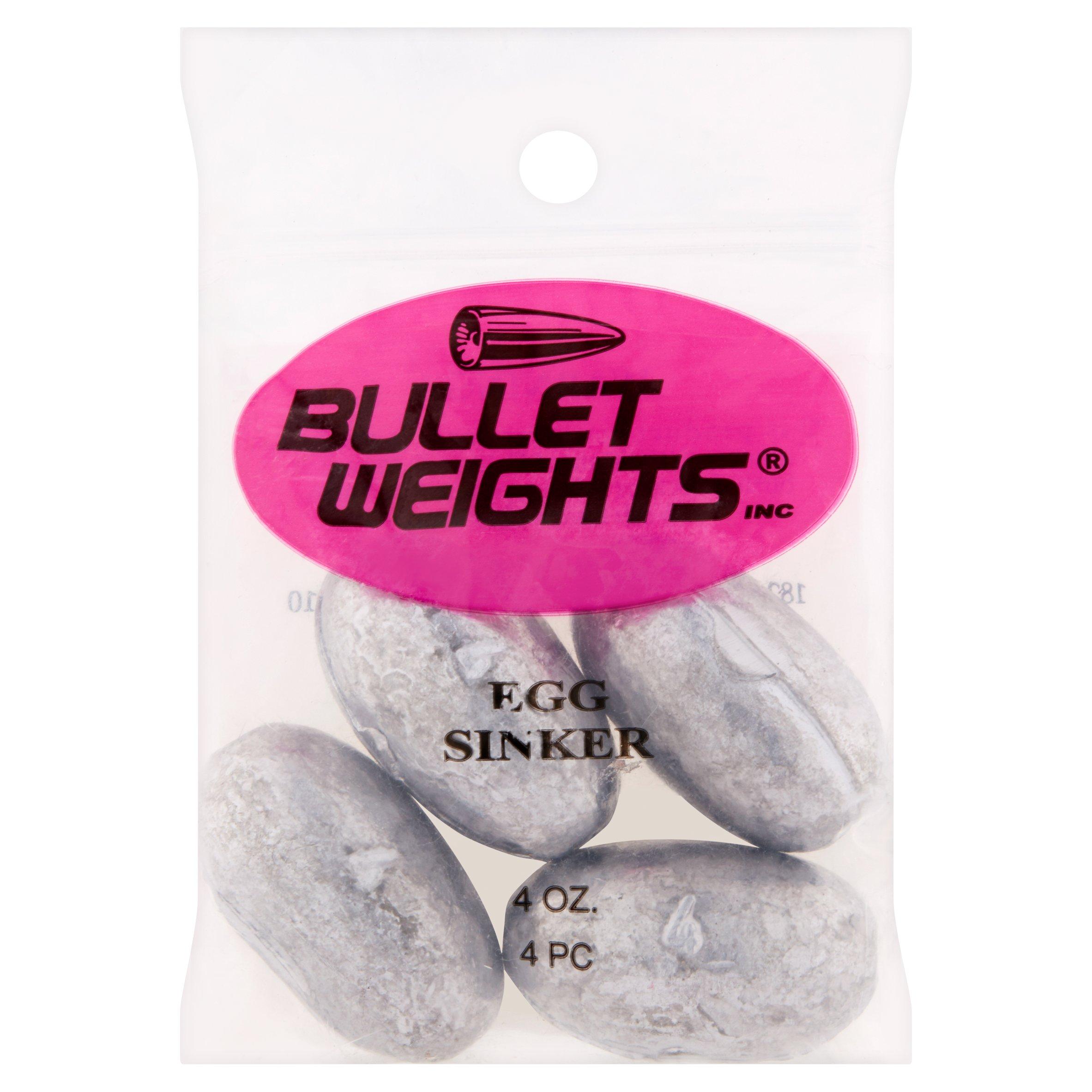 Bullet Weights® Egg Sinkers, 4 oz, 4 sinkers
