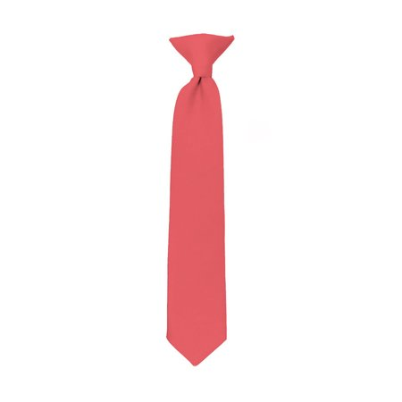 NYfashion101 Boy's Solid Clip on Tie- Coral Rose - image 1 of 1
