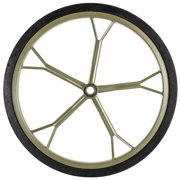 """Hunting Game Cart 18.5"""" Solid Rubber Replacement Wheel"""