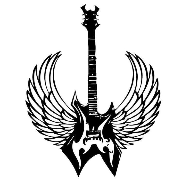 Electric Art Guitar Wings