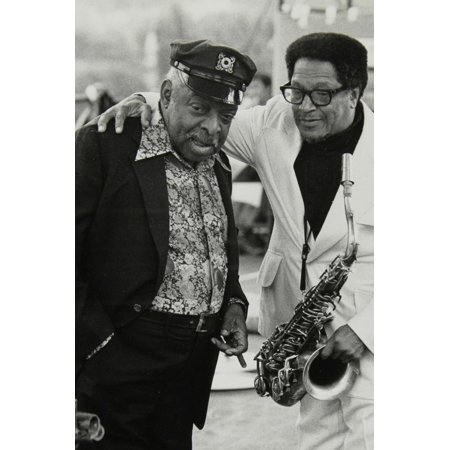 Count Basie and Illinois Jacquet at the Capital Radio Jazz Festival, London, July 1979 Print Wall Art By Denis Williams - Halloween Festivals 2017 Illinois