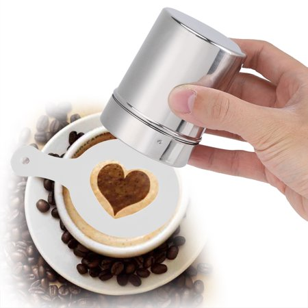 Garosa Stainless Steel Chocolate Shaker Cocoa Flour Coffee Sifter Art Stencil Molds Cocoa Flour Sifter Coffee Stencil - image 3 de 7