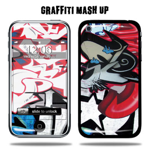 Mightyskins Protective Vinyl Skin Decal Cover for Apple iPhone 3G/3GS 8GB 16GB 32GB Cell Phone wrap sticker skins - Graffiti Mashup