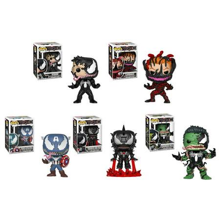 online retailer 44287 600a5 Marvel - Venom Vinyl Bobble Figures - SET OF 5 (Iron Man, Cap America, Hulk  +2) - Walmart.com