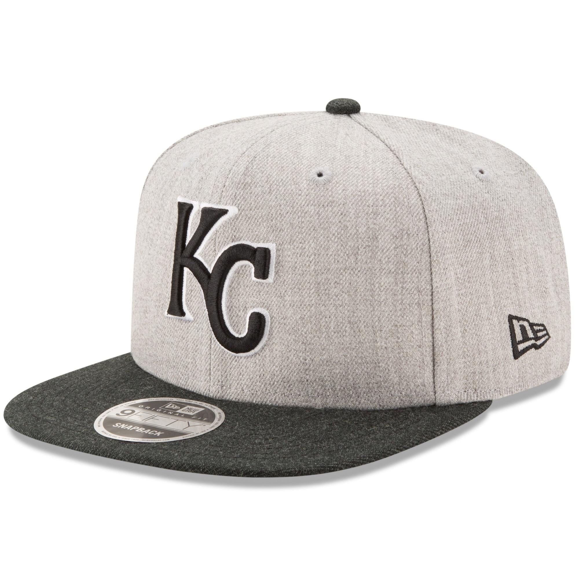 Kansas City Royals New Era Action Original Fit 9FIFTY Adjustable Snapback Hat - Heathered Gray/Black - OSFA