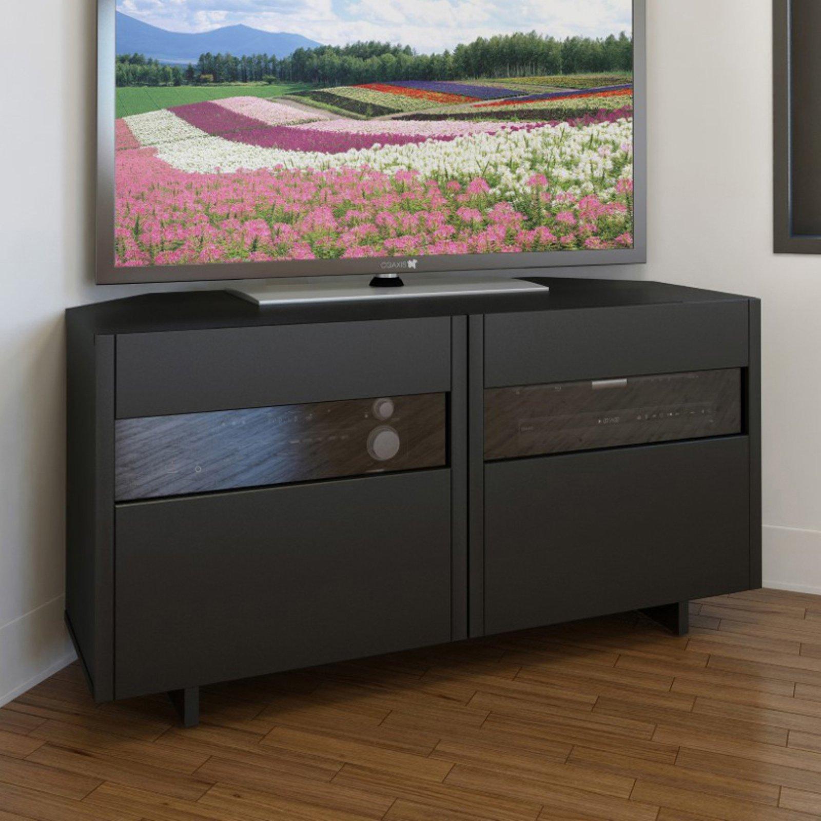 Nexera Vision 48 in. Corner TV Stand - Black