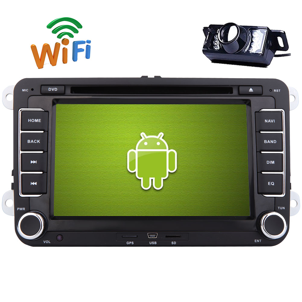 Backup Cam+EinCar Double Din Pure Android 6.0 Car GPS Stereo DVD Player with 7'' Digital Capacitive... by EinCar