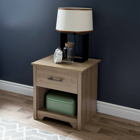 South shore fusion 1 drawer night stand multiple finishes for Multi night stand