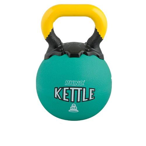 Champion Sports 25-lb Rubber Kettlebell - Rhino