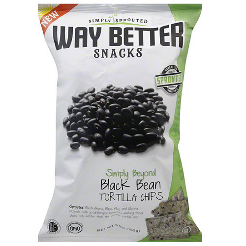 Way Better Snacks Simply Beyond Black Bean Tortilla Chips, 5.5 oz, (Pack of 12)