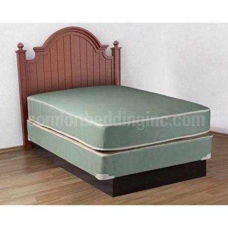 plasticized institutional twin size mattress box spring set. Black Bedroom Furniture Sets. Home Design Ideas