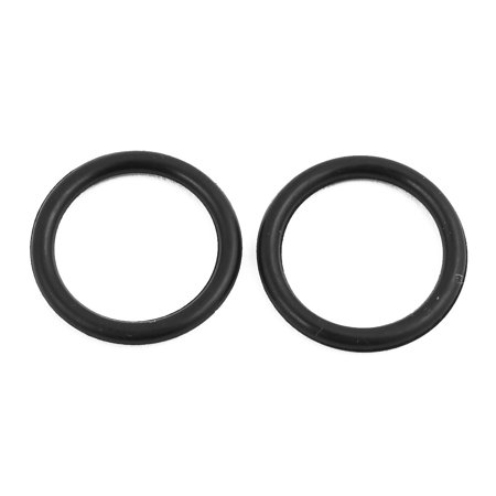 30pcs Black 21mm x 2.4mm Oil Resistant Sealing Ring O-shape NBR Rubber Grommet - image 2 of 2