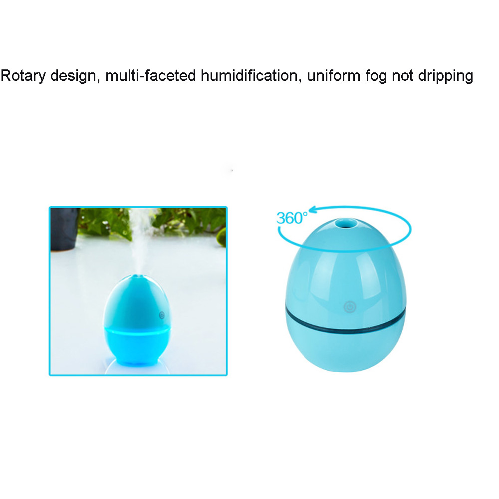 50ML Egg Shaped Ultrasonic Humidifier USB Portable Atomizer For Office BK