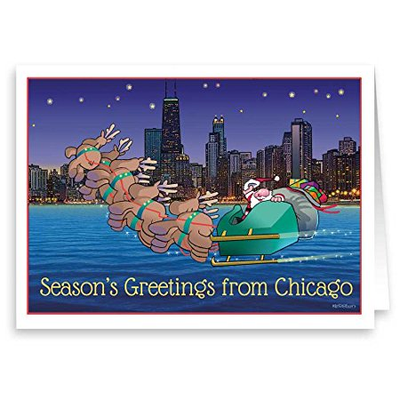 Chicago Theme Christmas Card - 18 Boxed Holiday Cards & Envelopes -90014](Christmas Party Theme Ideas)