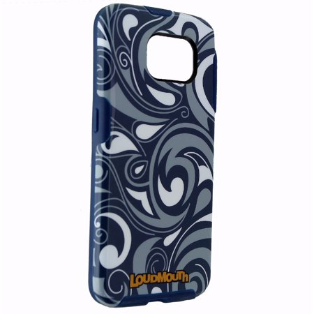 M-Edge Loudmouth Protective Case Cover for Galaxy S6 - Blue Gray White Pattern - image 2 de 2