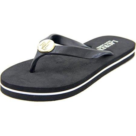 1d35e1471b83 Lauren Ralph Lauren - Lauren Ralph Lauren Elissa II J Women Open Toe  Synthetic Black Thong Sandal - Walmart.com